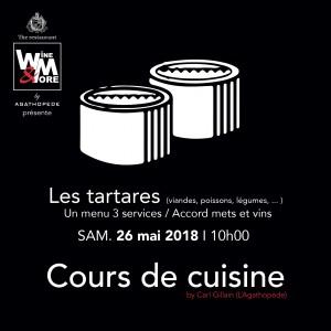 Cours de cuisine avec Carl Gillain - Les tartares (viandes, poissons, légumes,...) @ Wine and More | Namur | Wallonie | Belgique