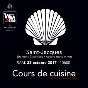 Cours de cuisine avec Carl Gillain - Saint Jacques @ Wine and More | Namur | Wallonie | Belgique