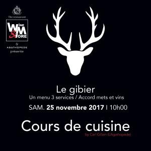 Cours de cuisine avec Carl Gillain - Gibier @ Wine and More | Namur | Wallonie | Belgique