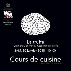 Cours de cuisine avec Carl Gillain - Truffe @ Wine and More  | Namur | Wallonie | Belgique