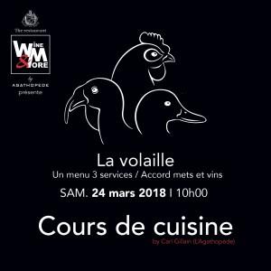 Cours de cuisine avec Carl Gillain - Volaille @ Wine and More | Namur | Wallonie | Belgique