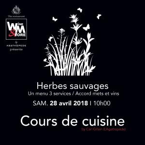 Cours de cuisine avec Carl Gillain - Herbes sauvages @ Wine and More | Namur | Wallonie | Belgique