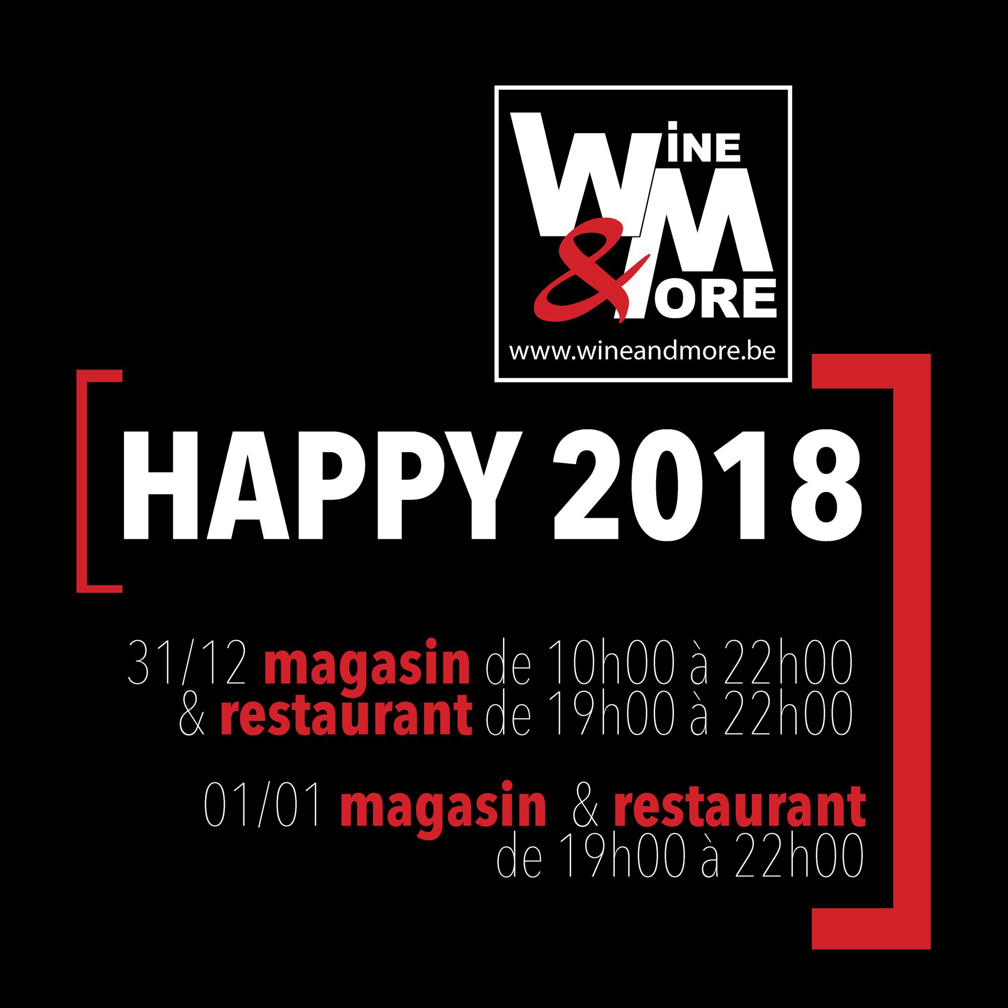 Happy 2018 @ Wine and More | Namur | Wallonie | Belgique