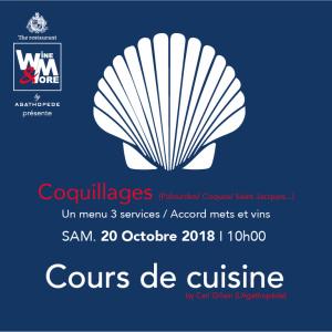 Cours de cuisine avec Carl Gillain - Coquillages @ Wine and More   Namur   Wallonie   Belgique