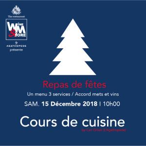Cours de cuisine avec Carl Gillain - Repas de fêtes @ Wine and More | Namur | Wallonie | Belgique