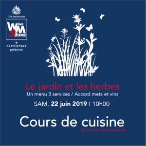 Cours de cuisine avec Carl Gillain - Le jardin et les herbes @ Wine and More | Namur | Wallonie | Belgique