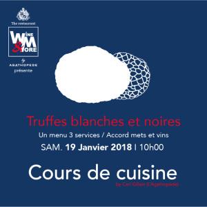 Cours de cuisine avec Carl Gillain - Truffes blanches et noires @ Wine and More | Namur | Wallonie | Belgique