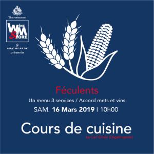 Cours de cuisine avec Carl Gillain - Féculents @ Wine and More | Namur | Wallonie | Belgique