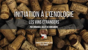 "Initiation à l'oenologie - Module 2 - ""Les vins Hors France"" @ Wine and More"